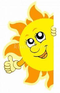 Картинки солнышко с зонтиком   изображения 026