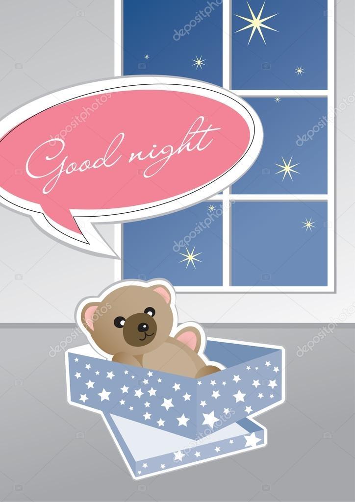 Картинки спокойной ночи мишка Тедди 007