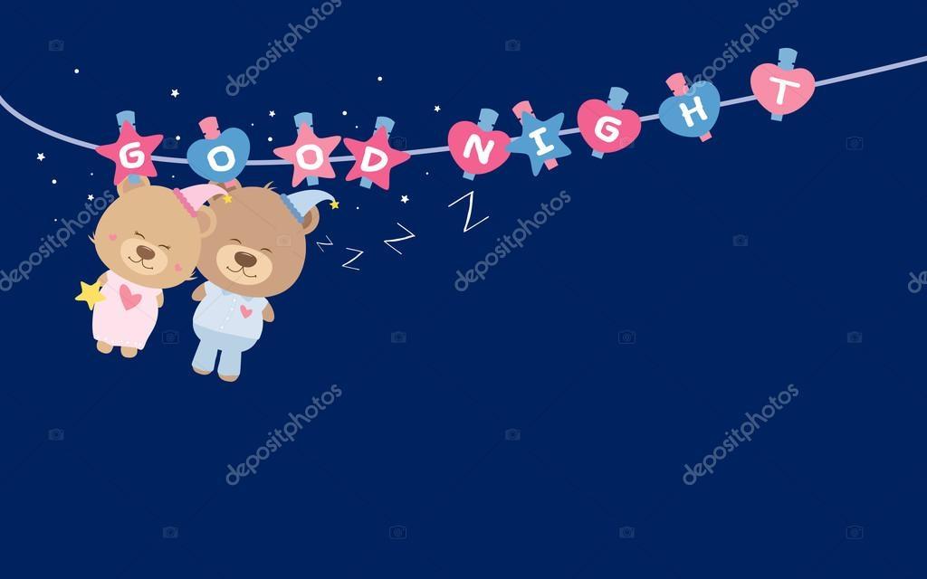 Картинки спокойной ночи мишка Тедди 018