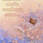 Картинки спокойной ночи мишка Тедди 026