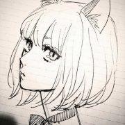 Картинки срисовать карандашом легкие аниме 024