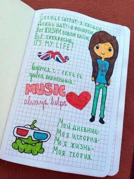 Картинки страницы для личного дневника 003