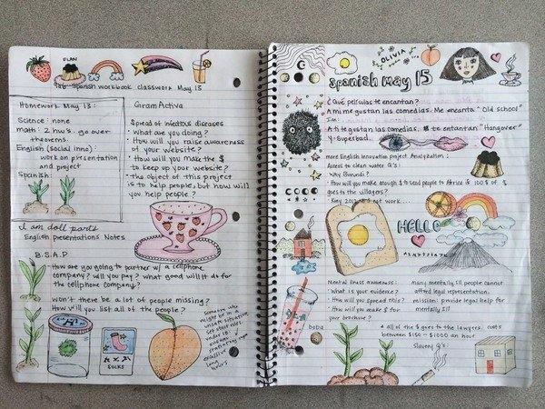 Картинки страницы для личного дневника 016
