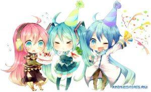 Картинки с Днем Рождения в аниме стиле (25)