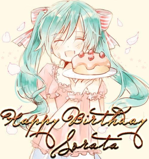 Картинки поздравления с днем рождения в стиле аниме