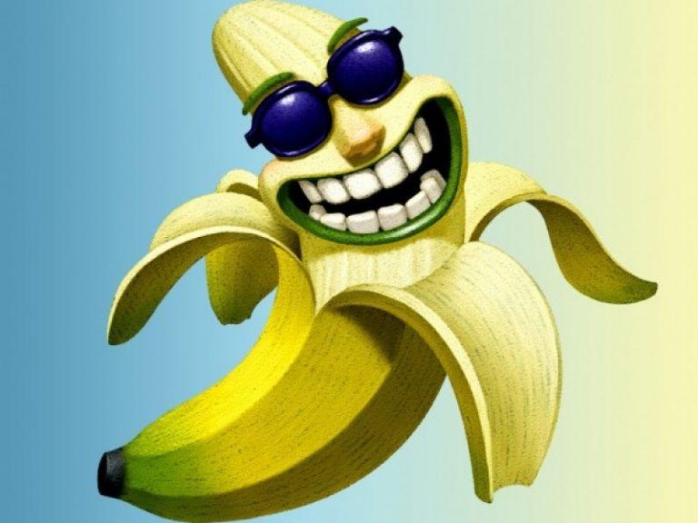 Днем рождения, прикольную картинку банана