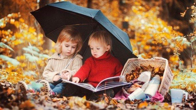 Картинки с детьми про осень 001