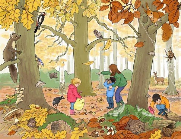 Картинки с детьми про осень 008