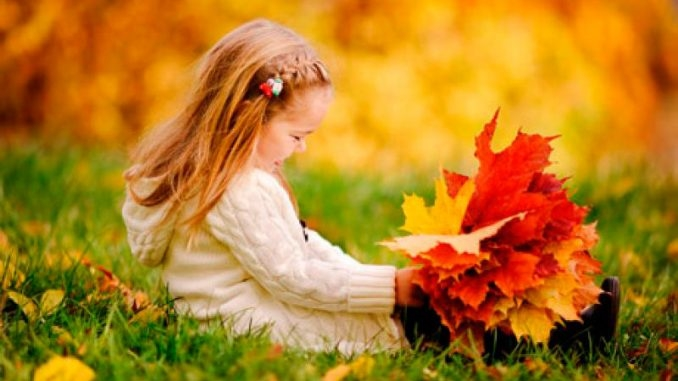 Картинки с детьми про осень 012