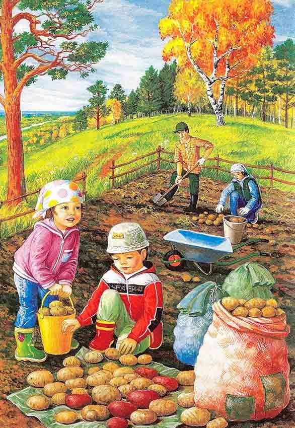 Картинки с детьми про осень 020