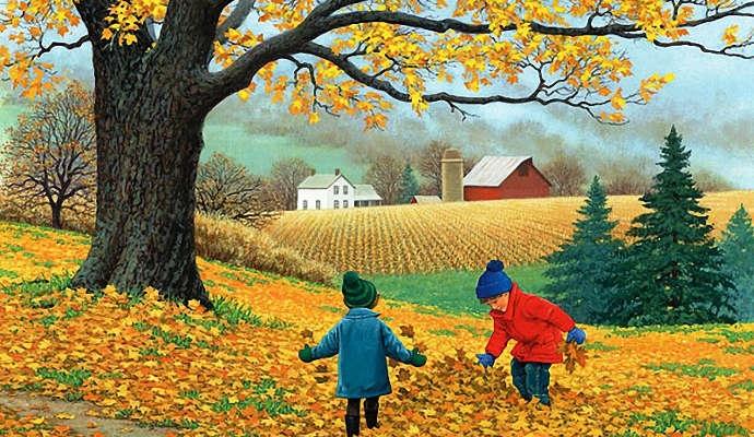 Картинки с детьми про осень 023