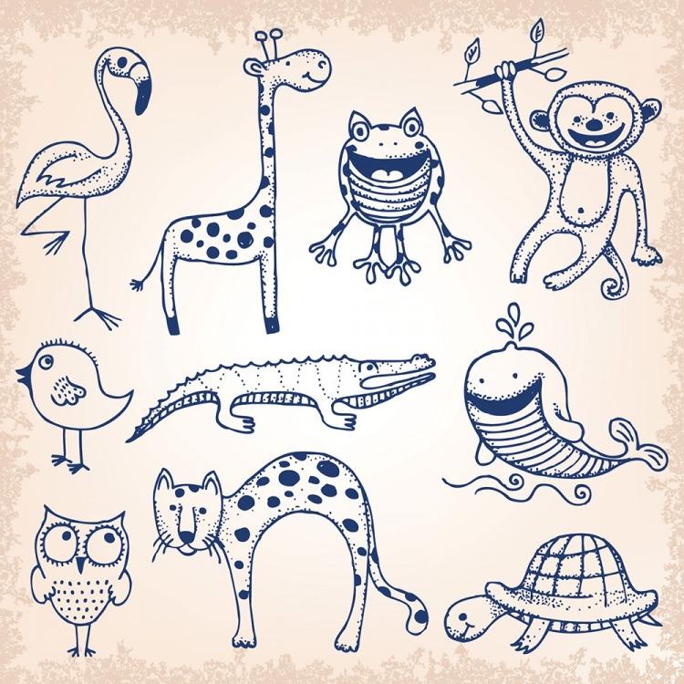 Картинки с животными для срисовки   лучшие рисунки013