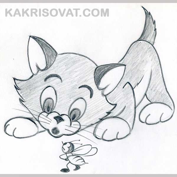 Картинки с животными для срисовки   лучшие рисунки016