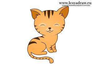 Картинки с котятами для срисовки 026