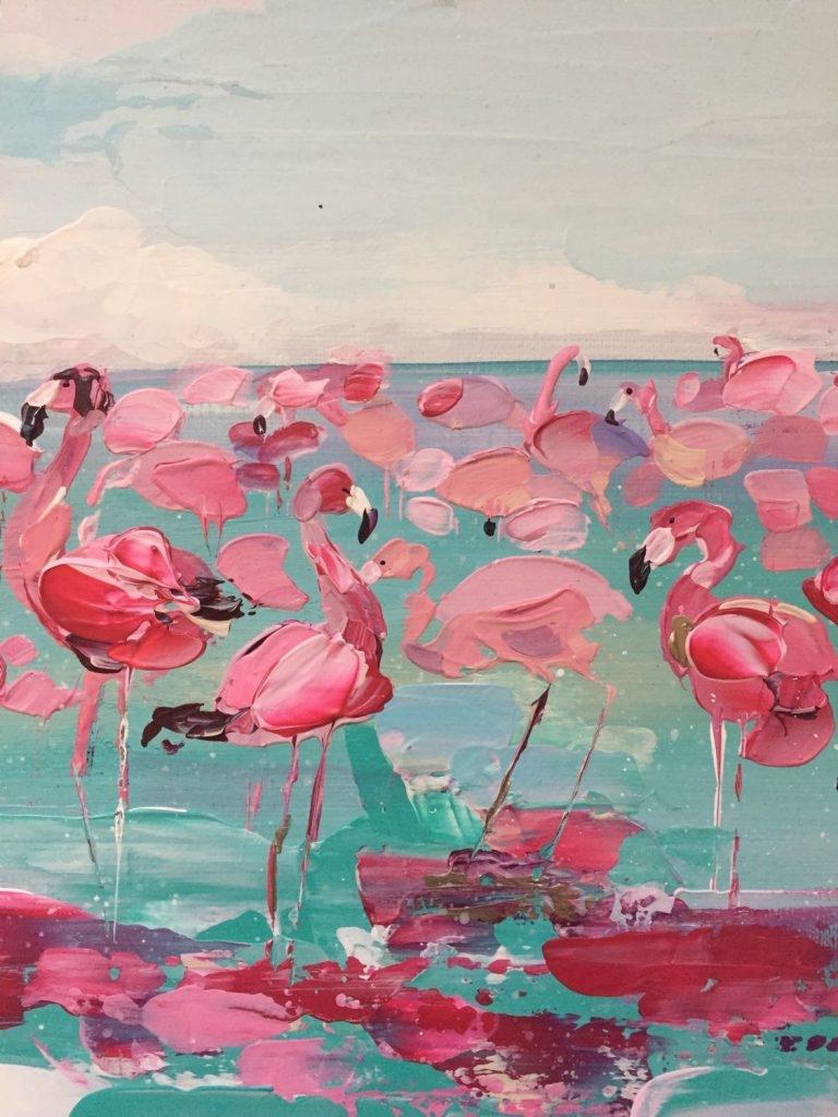 Картинки с фламинго на заставку   подборка (12)