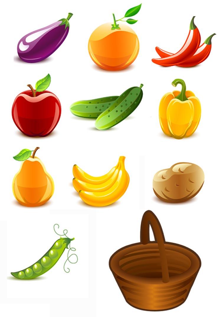 Открыткам, овощи и фрукты картинки для детей цветные
