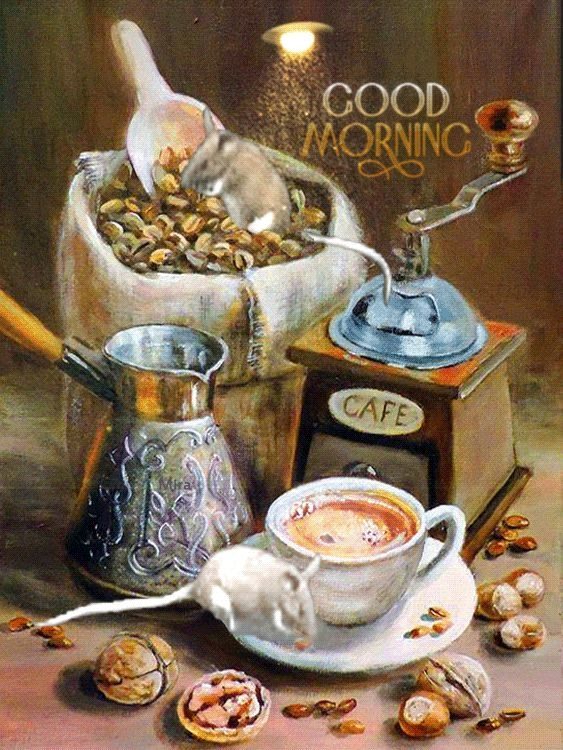 Картинки чай кофе доброе утро   подборка 016