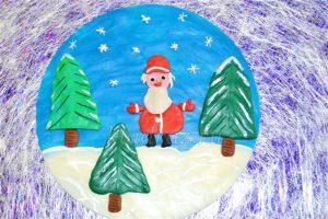 Картины из пластилина новогодние027
