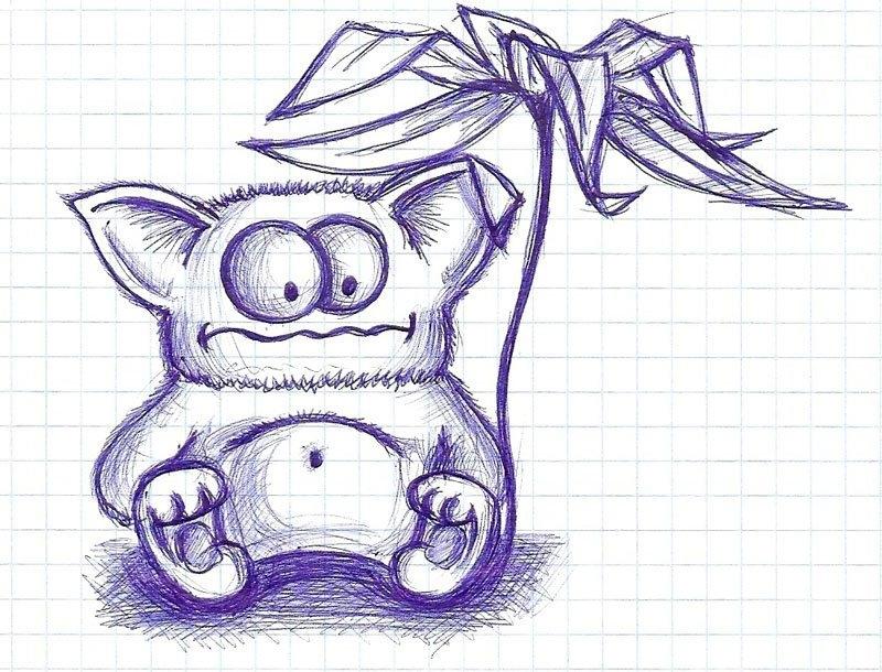 мини рисунки в тетради карандашом найдете разнообразные