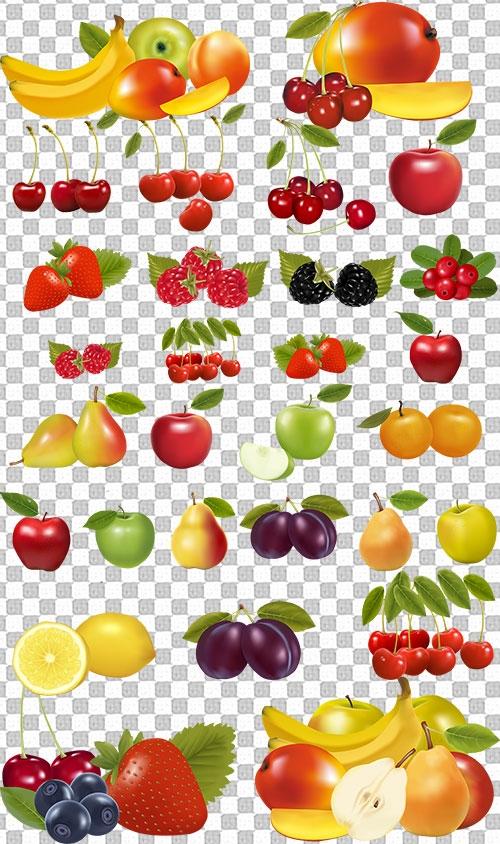 Клипарт на прозрачном фоне ягоды 002