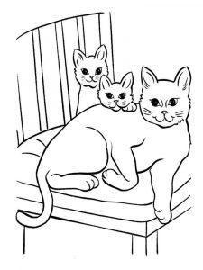 Котики и собачки раскраски распечатать 027