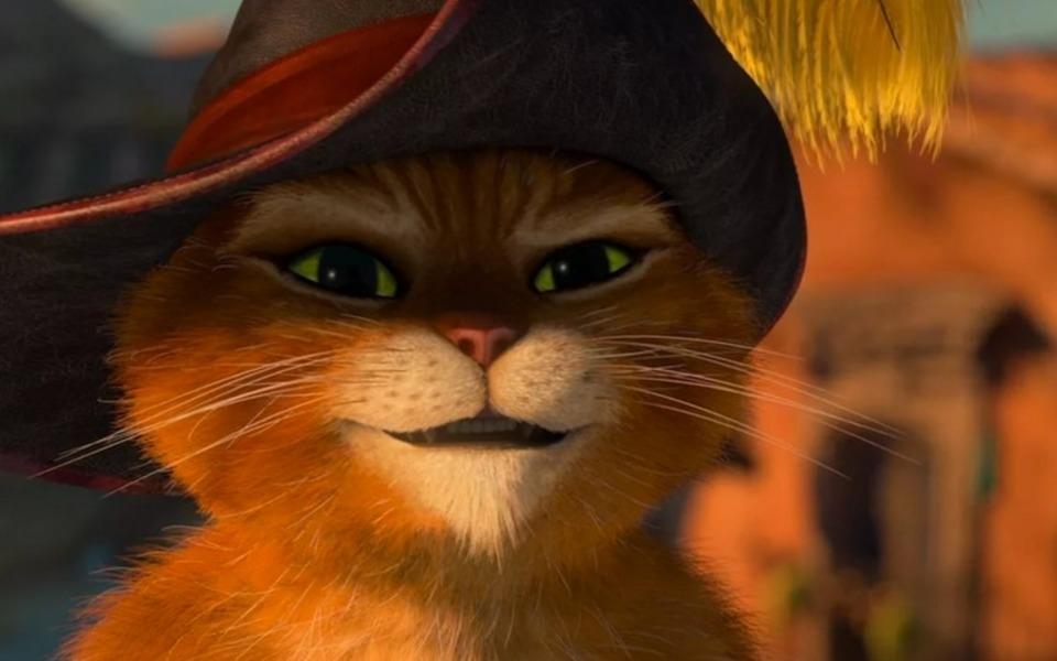 Картинки кота в сапогах из мультфильма шрек, все прощения