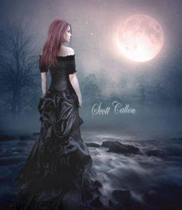 Красивая девушка и луна фото картинки 023
