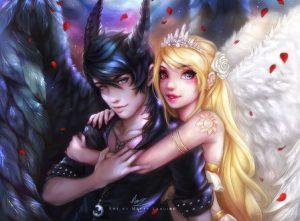 Красивые ангелы девушки картинки и арты 023