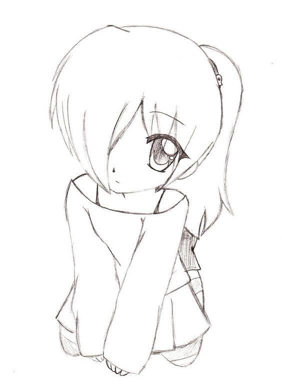 Красивые арты аниме для срисовки 001