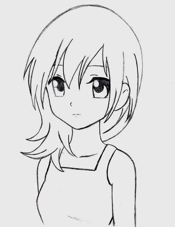Красивые арты аниме для срисовки 004