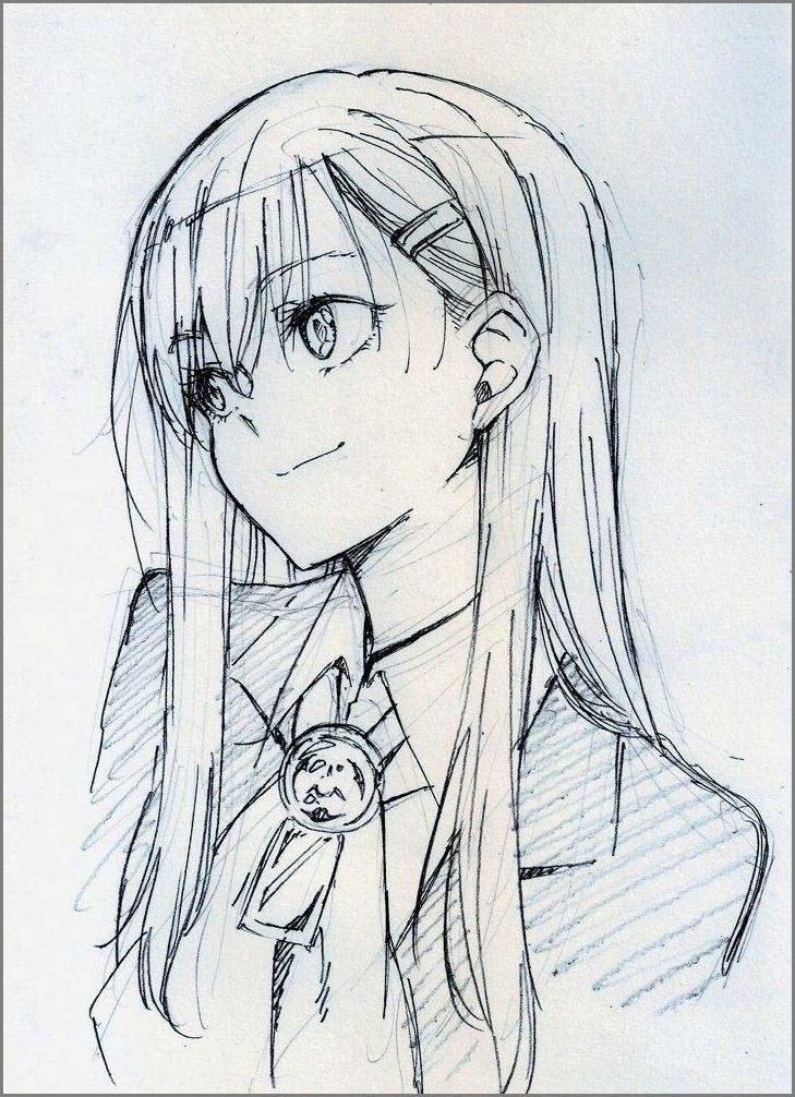 Красивые арты аниме для срисовки 008