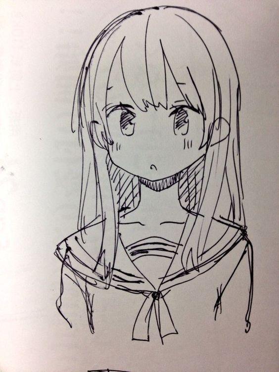 Красивые арты аниме для срисовки 013