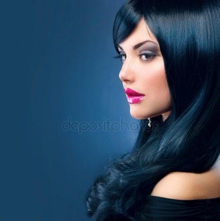 Красивые девушки с черными волосами и с челкой   фото (15)