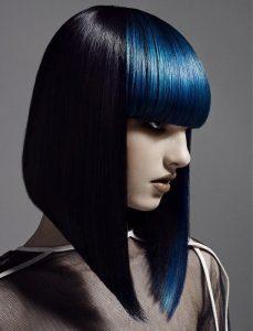 Красивые девушки с черными волосами и с челкой   фото (18)