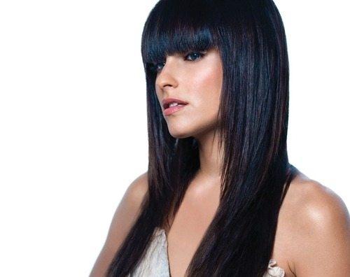 Красивые девушки с черными волосами и с челкой   фото (8)