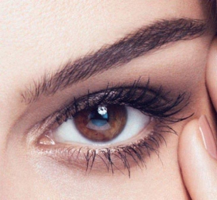 Красивые карие глаза девушки фото и картинки 004