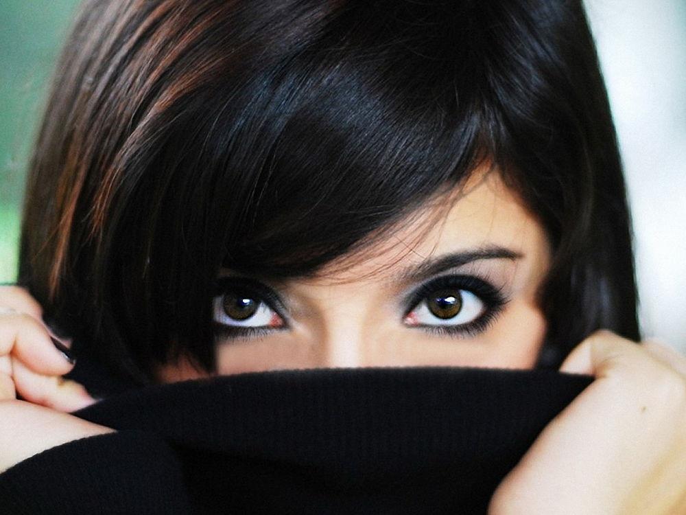 Красивые карие глаза девушки фото и картинки 020