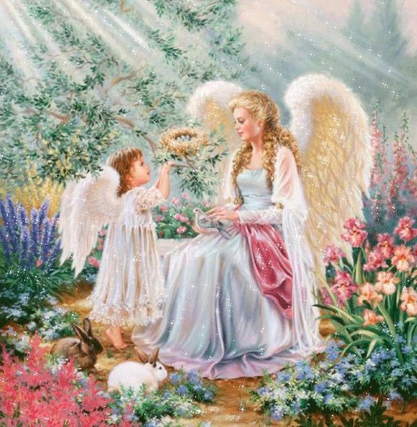 Ангел для мамы картинки анимашки, днем рождения мальчику