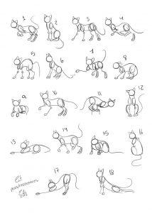 Красивые картинки котов для срисовки 025