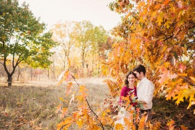 Красивые картинки пары влюбленные осенью 001