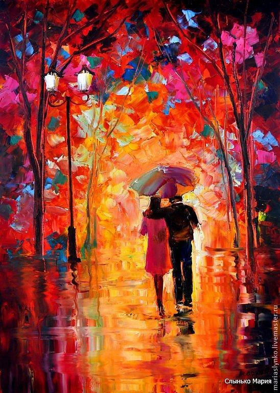 Красивые картинки пары влюбленные осенью 002