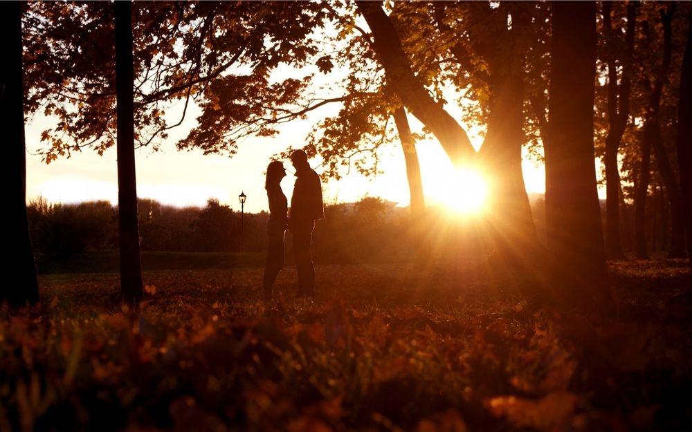 Красивые картинки пары влюбленные осенью 003