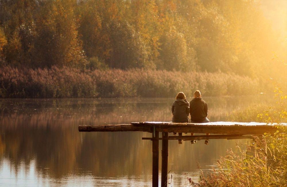 Красивые картинки пары влюбленные осенью 007