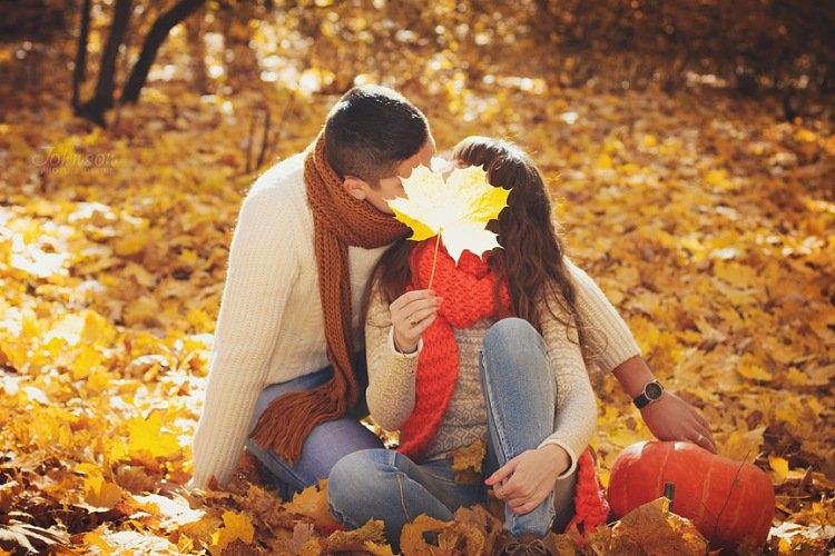 Красивые картинки пары влюбленные осенью 012