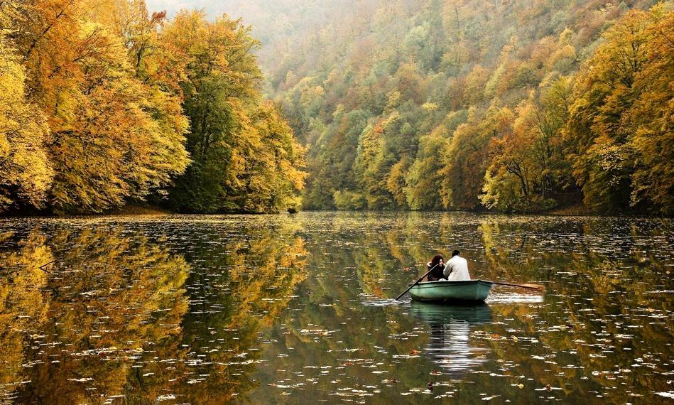 Красивые картинки пары влюбленные осенью 016