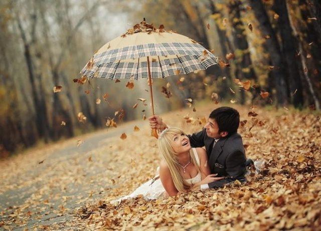 Красивые картинки пары влюбленные осенью 019