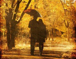 Красивые картинки пары влюбленные осенью 022