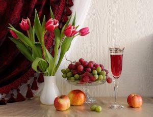 Красивые картинки с вином и фруктами 023