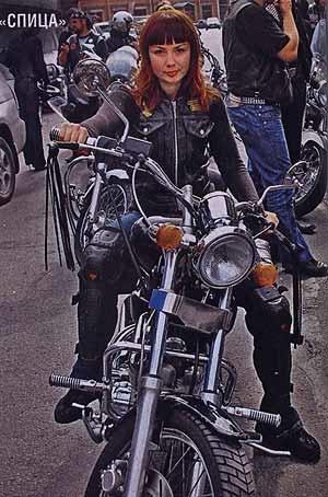 Красивые картинки с девушками и мотоциклами003