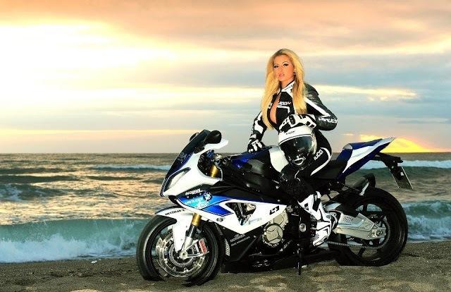 Красивые картинки с девушками и мотоциклами014
